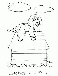free printable dog coloring pages kids puppy dog