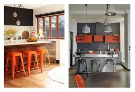 Kitchen Accent Furniture Bathroom Kitchen With Orange Accents Kitchen Decor Ideas For