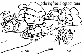 lets coloring book cute hello kitty christmas printable girls