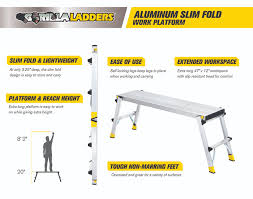 home depot black friday business gorilla ladders aluminum slim fold work platform with 250 lb load