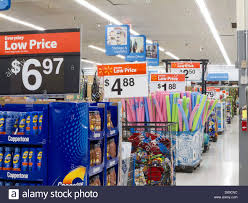 walmart interior discount retail store stock photo royalty free
