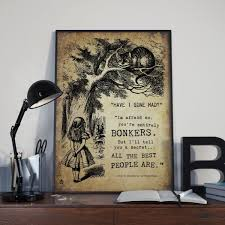 alice and wonderland home decor lecale prints quote posters just another wordpress site
