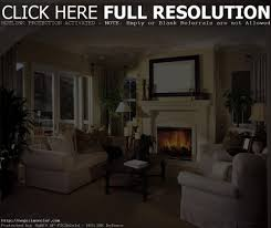 Living Room Setup Rustic Round Mirror With Wicker Armchair For Classic Country