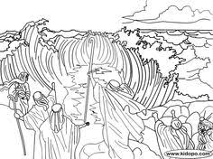 Parting Of The Red Sea Coloring Page Funycoloring Bible Coloring Pages Moses