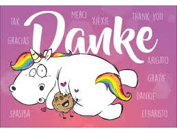 dankesspr che geburtstag pummeleinhorn sagt danke unicorn einhörner