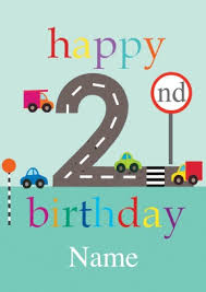cars 2nd birthday card scribbler cards