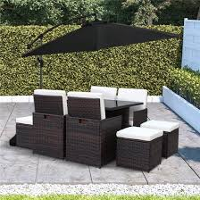 Outdoor Rattan Dining Chairs Billyoh Modica 8 Seater Cube Outdoor Rattan Dining Set