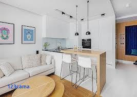 aménagement salon salle à manger cuisine table de cuisine pour table blanche salle a manger aménagement