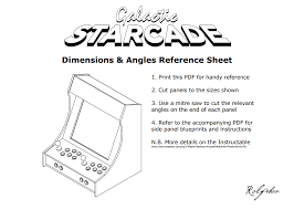 bartop arcade cabinet dimensions diy do it yourself