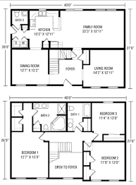 3 Bedroom Open Floor House Plans High Quality Simple 2 Story House Plans 3 Two Story House Floor