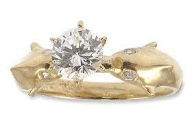dolphin engagement ring cheap dolphin wedding ring the wedding specialiststhe wedding