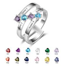 mothers rings pictures images Personalized gifts mothers rings 925 sterling silver 4 name 4 jpg