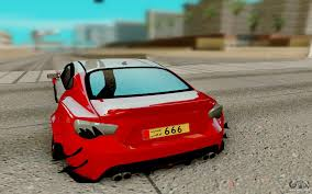 red subaru brz subaru brz for gta san andreas