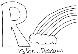 free alphabet coloring pages rainbow alphabet coloring pages