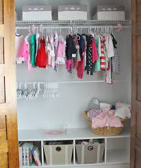 Nursery Organizers Interior Baby Closet Organizers And Two Hanging Clothes Areas