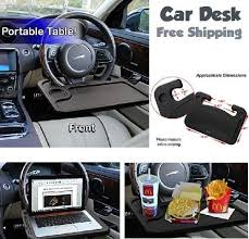 steering wheel desk car office auto laptop holder tablet stand
