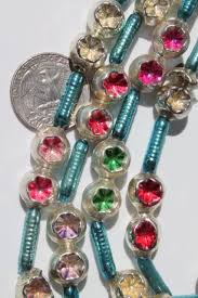 vintage mercury glass tree garlands bead swags tiny