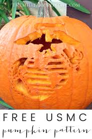 free usmc pumpkin pattern the military wife life
