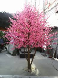 silk blossom trees made in china cheap artificial plastic