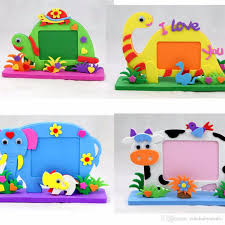 2017 2017 new eva photo frame foam craft toy kids diy kits