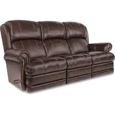 Contemporary Reclining Sofa With Topstitch by Kirkwood Reclina Way Full Reclining Sofa W Brass Nail Head Trim