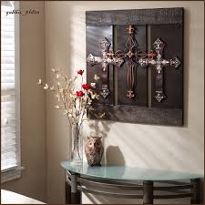 Crosses Home Decor 3d Wall Art Metal Sculpture Large Bronze Crosses Elegant Gorgeous