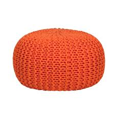 knitted pouf ottoman target furniture home accessories and living room accessories by orange