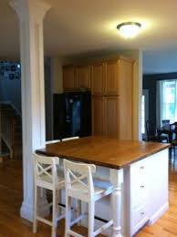 islander kitchen island post