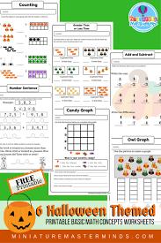 halloween themed free printable no prep math counting concepts