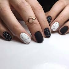 Black Manicure Designs 30 Black Nail Designs That Are Anything But Black Nails 30th