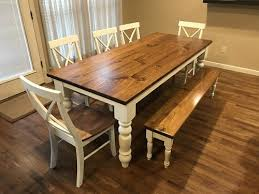 stained table top painted legs baluster turned leg table james james furniture springdale arkansas