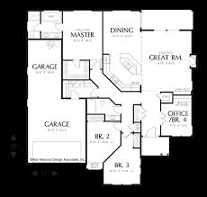 craftsman floor plan mascord house plan 1231f the saratoga