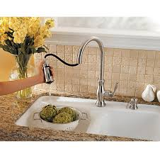 price pfister hanover kitchen faucet stainless steel hanover 1 handle pull kitchen faucet lf