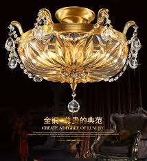 led ceiling dome light european style all copper led ceiling dome light crystal l french