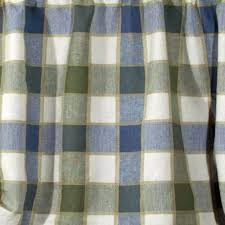 Valance Blue Plymouth Plaid Tie Up Valance With Button Straps Curtainshop Com