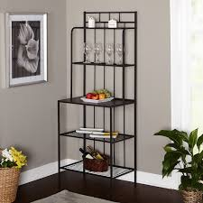 Furniture Kitchen Storage Amazon Com Bakers Rack 5 Shelf Metal Kitchen Storage Stand