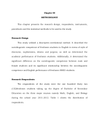 thesis about education in english format thesis