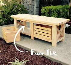 Garden Bench With Storage - staining and finishing wooden bench behr