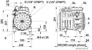 2 cylinder semi hermetic compressor series h h11 dorin
