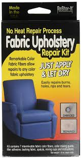 How To Repair Tear In Leather Chair Amazon Com Restor It Fabric Upholstery Repair Kit Includes 7 1 8