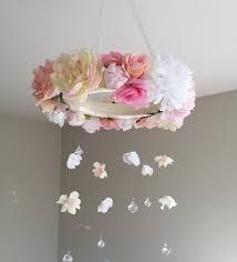 Pink Peonies Nursery Flower Mobile Floral Mobile Floral Baby Mobile Pink Nursery