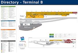 Dallas Terminal Map by San Jose Airport Terminal B Map