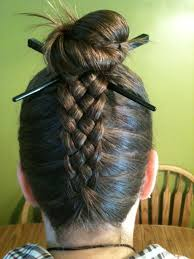 hair plait with chopstick 5 strand pineapple braid with bun kenra professional braided