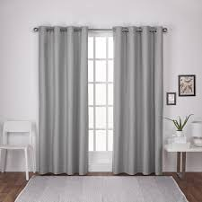 Winter Window Curtains Ati Home Thermal Textured Linen Grommet Top Window Curtain