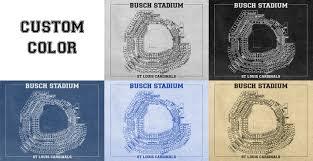 busch stadium vintage baseball field print blueprint photo paper