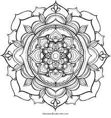 printable 33 lotus flower mandala coloring pages 5555 free