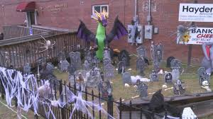 halloween decorations stolen from london chiropractic clinic