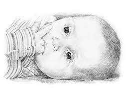 baby pencil portrait drawing dibujo pinterest pencil