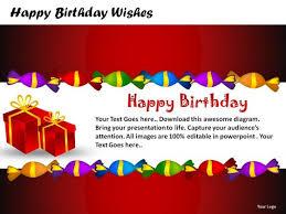 birthday wishes templates birthday wishes powerpoint presentation slides