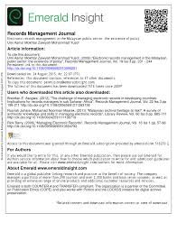 electronic records management in the malaysian public sector the